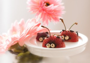 Ladybug Chocolate Bites