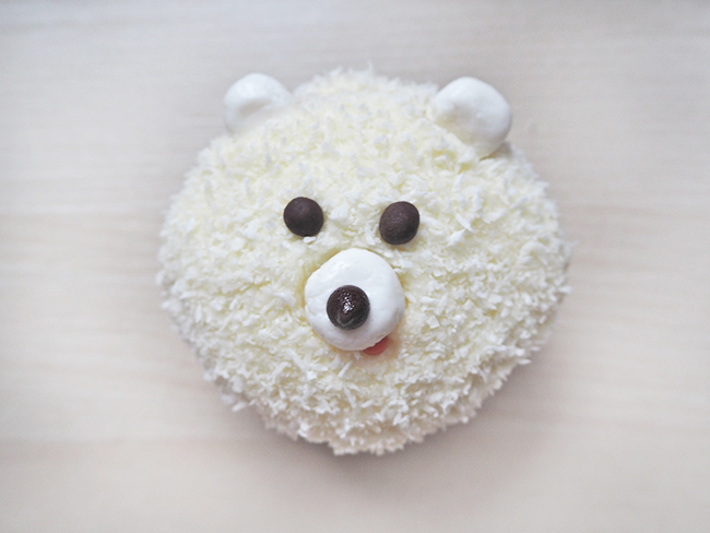 polarbear cupcake