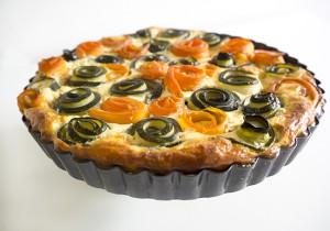 zucchini carrot cheese tart