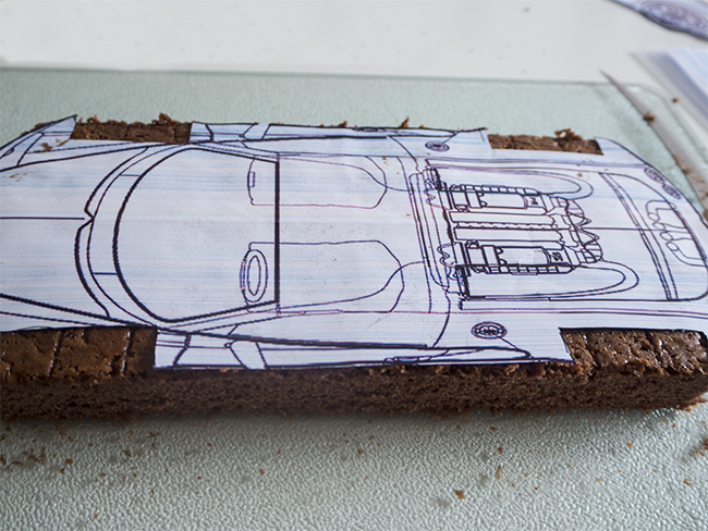Car cake tiny little bee i find my blueprints on the internet and print them it helps to give the shape of the cake car cake malvernweather Gallery