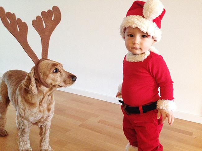 Santa and Reindog