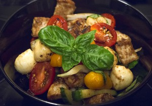 Panzanella with Mozzarella