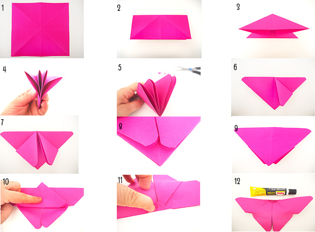 origami butterflies mix